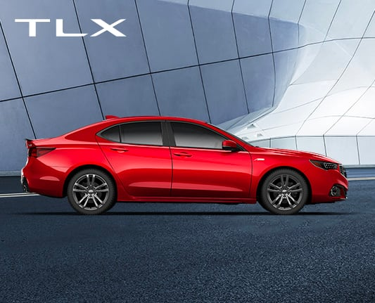 2020 Acura TLX Homepage model line exterior red city side view